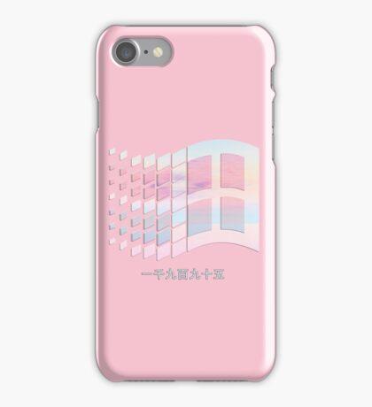 Vaporwave windows iPhone Case/Skin