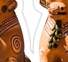 Peruvian Roof Bulls Sticker