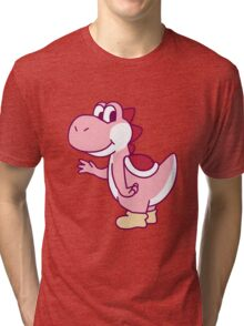 Pink Yoshi Tri-blend T-Shirt