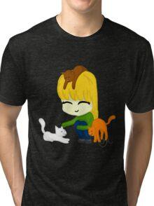 Kawii Kitties Tri-blend T-Shirt