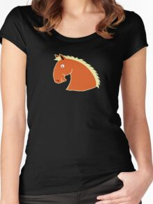 Chestnut Horse with Flaxen Mane Women's Fitted Scoop T-Shirt