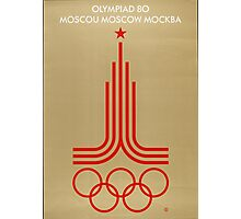 Vintage 1980 Moscow Summer Olympics Poster Photographic Print