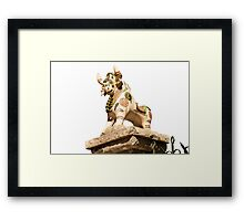 Roof Bull Framed Print