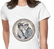 Gibson Girl in Love Victorian Love Womens Fitted T-Shirt