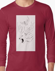 King of the Beasts - side on Long Sleeve T-Shirt