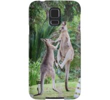 Male Kangaroos Fighting Samsung Galaxy Case/Skin
