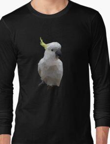 Low Poly Cockatoo Bird Long Sleeve T-Shirt
