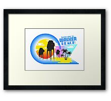 Welcome to Walker Beach Framed Print