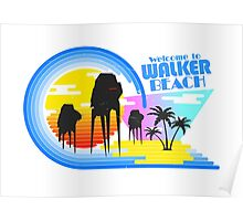 Welcome to Walker Beach Poster