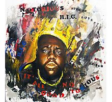Biggie Tribute Photographic Print