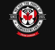 People of Tomorrowland country Flags logo Badge - Canada - Canadian - Canadien Unisex T-Shirt