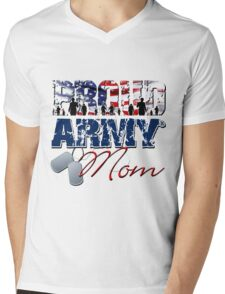 Proud Army Mom Mens V-Neck T-Shirt