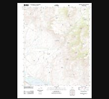 USGS TOPO Map Arizona AZ Greenback Creek 20111114 TM Unisex T-Shirt