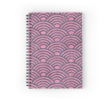 Art deco,red,black,rusty,grunge,worn,old,vintage,1920's,The great Gatsby, Spiral Notebook