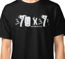 70 x 7 - Matthew 18-21-22 - Bible Verse Christian  Classic T-Shirt