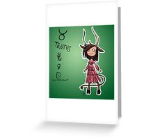 Astrology - Taurus Greeting Card