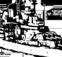 Battleship Missouri Sticker