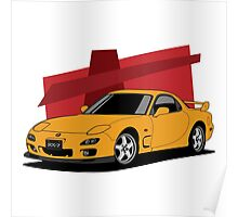 Mazda RX-7 (FD) (orange) Poster