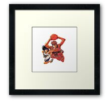 Sakuragi VS Nobunaga - Slam Dunk Framed Print