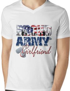 Proud Army Girlfriend Mens V-Neck T-Shirt