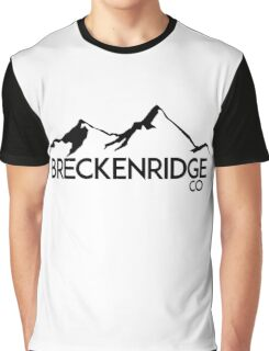 BRECKENRIDGE COLORADO Ski Skiing Mountain Mountains Skiing Skis Silhouette Snowboard Snowboarding Graphic T-Shirt