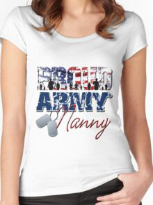 Proud Army Nanny Women's Fitted Scoop T-Shirt