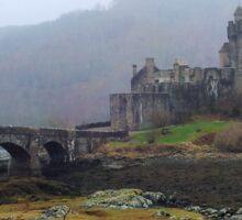 Scottish Castle in the Mist Sticker