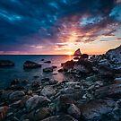 Spiaggia della Vela, Portonovo, Italy by Alessio Michelini