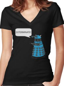 Dalek - Exterminate! Women's Fitted V-Neck T-Shirt