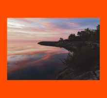 Colorful Cove - Still and Soft Dawn on Lake Ontario Kids Tee