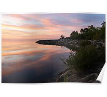 Colorful Cove - Still and Soft Dawn on Lake Ontario Poster