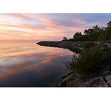 Colorful Cove - Still and Soft Dawn on Lake Ontario Photographic Print