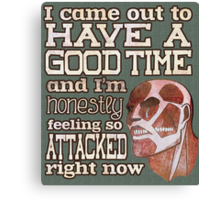 Attack on Titan - Feeling so Attacked Canvas Print