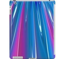 Blue and Purple Rays iPad Case/Skin
