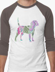 Floral Garden Beagle Men's Baseball ¾ T-Shirt