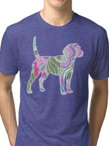 Floral Garden Beagle Tri-blend T-Shirt
