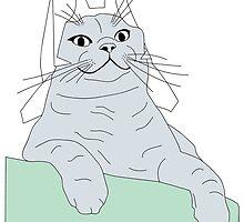 Bucket the Cat Sketch 3 by robstantoncook