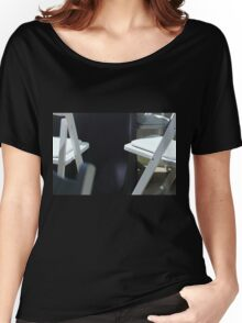 Four White Wooden Chairs... Women's Relaxed Fit T-Shirt