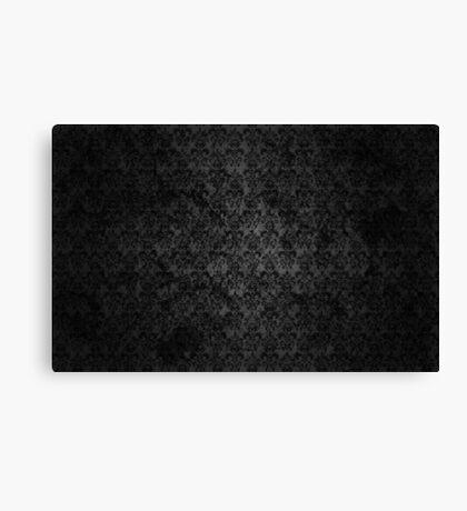 Dark Grunge Damask Texture Canvas Print