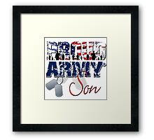 Proud Army Son Framed Print