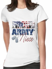 Proud Army Niece Womens Fitted T-Shirt