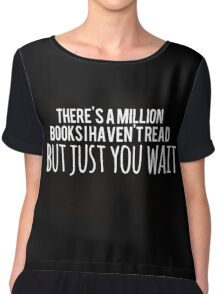 Just You Wait (black) Chiffon Top