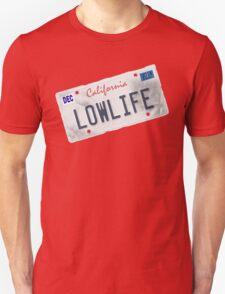 License Plate - LOWLIFE sideways T-Shirt