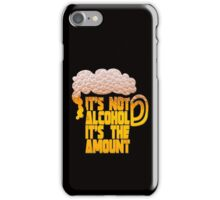 it's not alcohol it's the amount iPhone Case/Skin