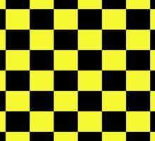 Checkered Black and Yellow Flag Sticker