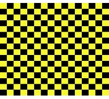 Checkered Black and Yellow Flag Photographic Print