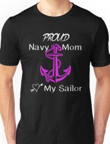 Navy Mom Unisex T-Shirt