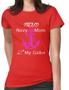 Navy Mom Womens Fitted T-Shirt
