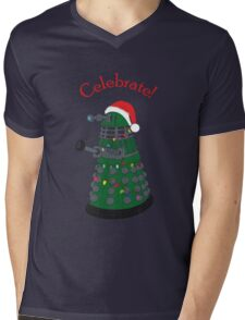 Dalek - Celebrate! Mens V-Neck T-Shirt