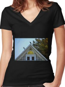 Yellow Point Women's Fitted V-Neck T-Shirt